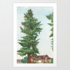 Neighbor's Tree Art Print