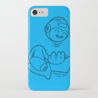 mega man iPhone & iPod Cases featuring Mega Man by La Manette