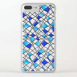 variable geometry Clear iPhone Case