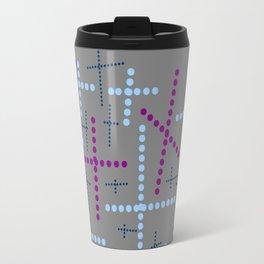 Croisement violet gris Travel Mug