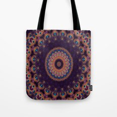 Jewelled Peacock Tote Bag
