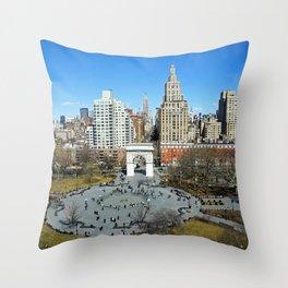 Washington Square Park, NYC Throw Pillow