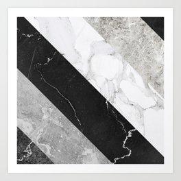 Contemporary Marble Stone Rays Kunstdrucke