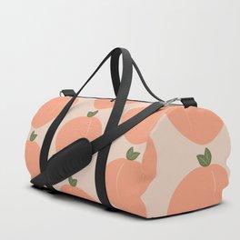 Minimal Fruit Pattern - Peaches Duffle Bag