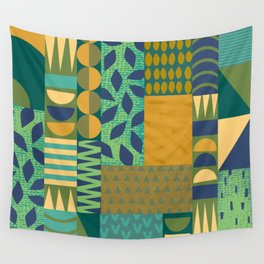 Patchwork Abstract Wall Tapestry