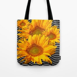 GOLDEN YELLOW SUNFLOWERS ABSTRACT Tote Bag