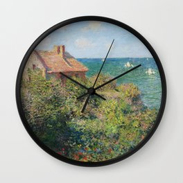 Fisherman's Cottage at Varengeville by Claude Monet Wall Clock