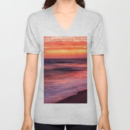 Santa Monica Sunset Unisex V-Neck