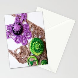 Lilac Lime Romanian Point  Lace Photography  Stationery Cards