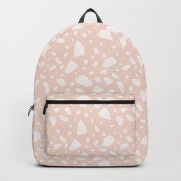 Blush Girly Terrazzo Backpack