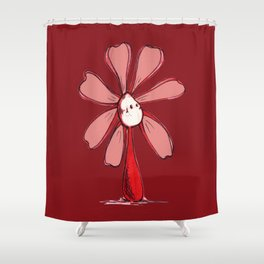 """Red"" Color Chakra Flowerkid Shower Curtain"