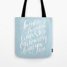 Twinkle Twinkle Little Star Blue Tote Bag