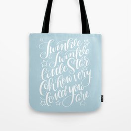 Twinkle Twinkle Little Star Blue Tote Bag