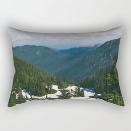 Valley Below Rectangular Pillow