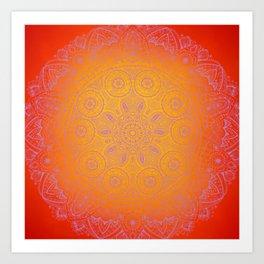 Sunshine Mandala Purple Art Print