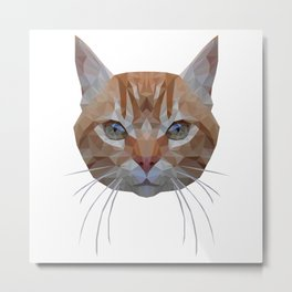 Futuristic cat Metal Print