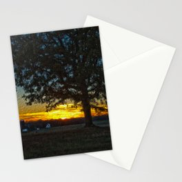 Columbia Va. Sunset in Oil Stationery Cards