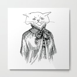 Crappy Cat 2! Metal Print