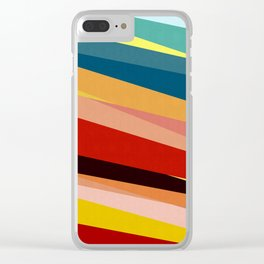 Vibrant and colorful geometry I Clear iPhone Case