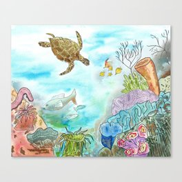 Turtle Reef Canvas Print