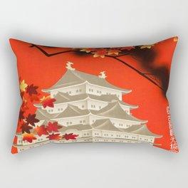 Autumn in Nagoya 1930s Vintage Travel Poster Rectangular Pillow