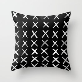 Contemporary X Paint Cross stich Pattern Throw Pillow