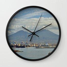 Mt. Vesuvius Wall Clock