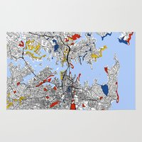 sydney Area & Throw Rugs featuring Sydney by Mondrian Maps