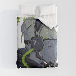 Space Gril Vaporwave Cyberpunk Kanji Pattern Urban Futuristic Style Comforters