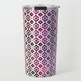 Squared Purple Tiles Travel Mug