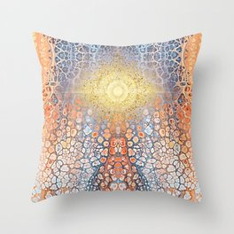Earth Chakra - Abstract Nature Marble Boho Gold Glitter Pattern Throw Pillow