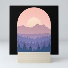 Sawtooth Mountains Landscape Mini Art Print
