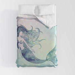 Watercolor Mermaid Duvet Cover