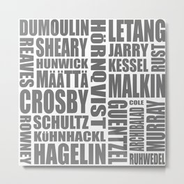 penguins 17-18 roster Metal Print