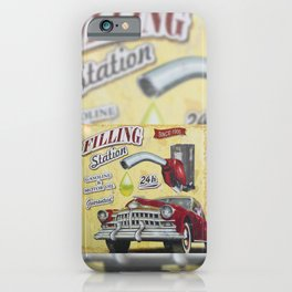 Filling Station, 1950's Style iPhone Case