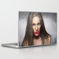 lipstick Laptop & iPad Skins featuring Lipstick by Anna Shellkova