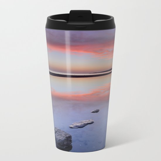 """Purple....."" Tarifa beach. Metal Travel Mug"