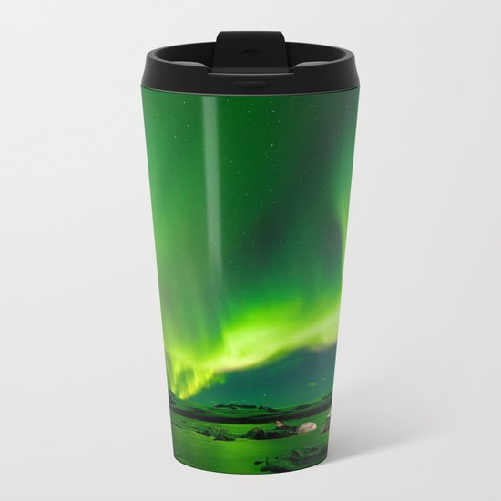 Iceland Northern Lights Metal Travel Mug