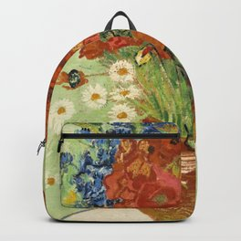"""Vincent van Gogh """"Still Life, Vase with Daisies, and Poppies"""" Backpack"""