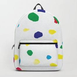 Watercolor bright dots in primary Backpack