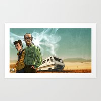 breaking bad Art Prints featuring Breaking Bad by Adrien ADN Noterdaem