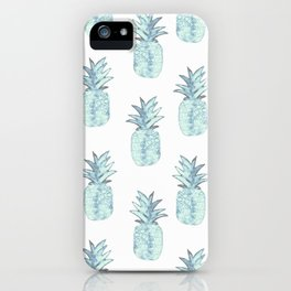 Turquoise Pineapple iPhone Case