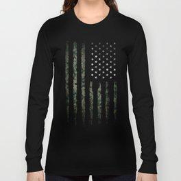 Khaki american flag Long Sleeve T-shirt