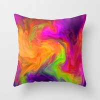 passion Throw Pillows featuring passion by Sylvia Cook Photography