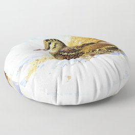 Archibald Thorburn - Winter Woodcock - Digital Remastered Edition Floor Pillow