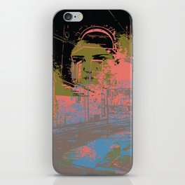 As I walk through the valley of the shadow of death iPhone Skin