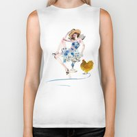 rooster Biker Tanks featuring Rooster by Hyegallery