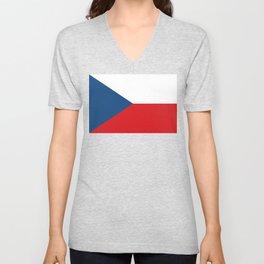 Czech Republic Flag Czech Patriotic Unisex V-Neck