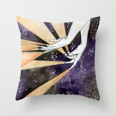magic fingers in space Throw Pillow