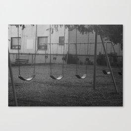 Urban Swing Set Canvas Print